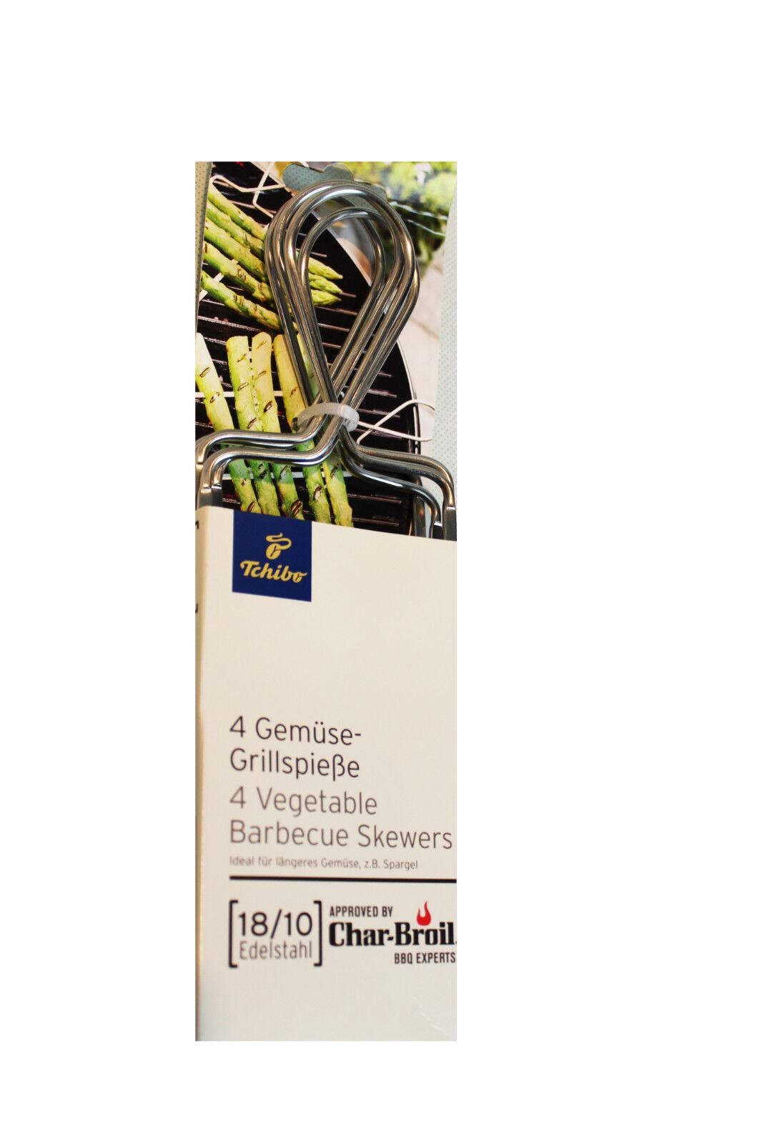 TCM Tchibo 4 Gemüsespieße Grillspieße Grillen Spieße