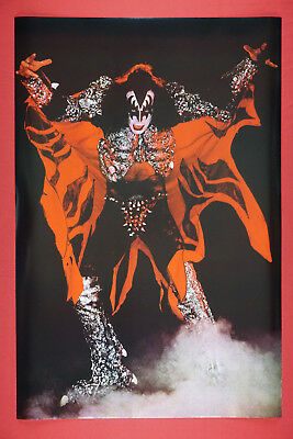Gene Simmons of Kiss Rock Band Demon Costume Promo Poster 24X36 New     KGEN](Gene Simmons Costume)