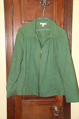 Coldwater Creek Light Jacket Green Size 16