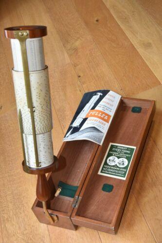 Stanley Fuller Spiral Cylindrical Slide Rule w/Case Model 2 Sine Log 1945