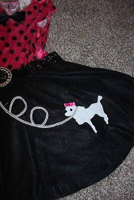 Girls poodle skirt costume size L (10-12)