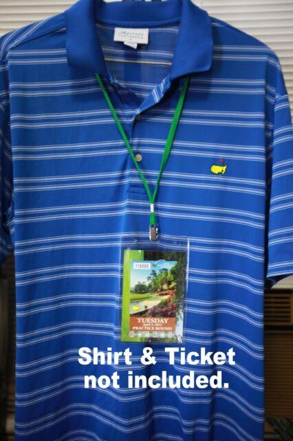 2014 Masters Ticket Badge Holder Augusta National Golf Amen Corner Azalea PGA