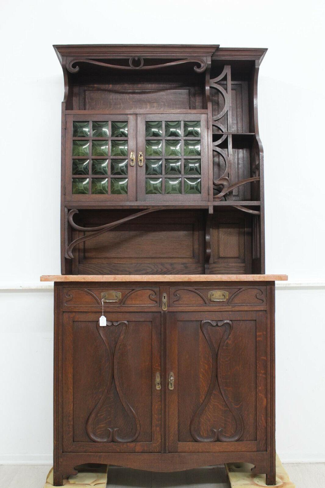 Buffet Jugendstil Antik Anrichte Kredenz Wohnzimmer Diele Belgien Eiche Buf177
