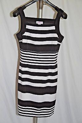 Stitch B Tween Cap Sleeve Mini Dress Black and White Stripes Size L NWT - Tween White Dresses