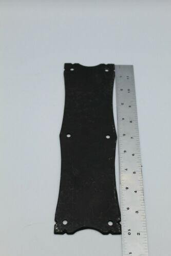"Black Wrought Cast Iron Door Push Plate 10"" x 3"""