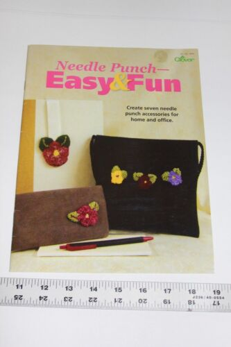 Clover Needle Punch Easy Fun 7 Patterns home accessories book instructions vtg