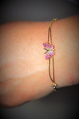 Austrian Crystal Butterfly Flower - Butterfly bracelet Austrian crystals with flower accents