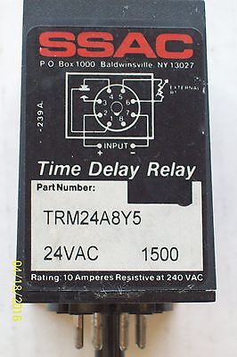 SSAC SOLID STATE TIME DELAY RELAY 24VAC , TRM24A8Y5