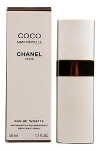 chanel coco mademoiselle eau de toilette 50ml rcechargeable new free delivery