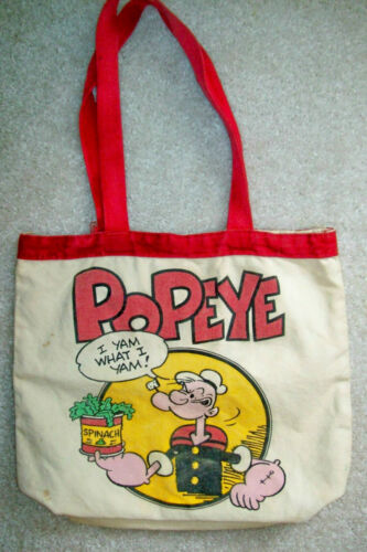 Vintage 1980 Popeye Canvas Tote Bag