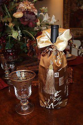 Elegant Silk Wine Bag -