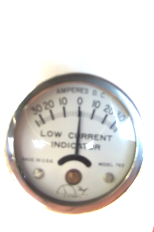 """HOYT INDUCTION AMMETER 30AMP,2""""DIAMETER,LAY ON BATTERY CABLE,MADE IN USA.2.2."""