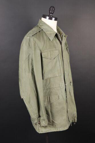 Vintage 50s US ARMY OG-107 M-1951 Field Coat Jacket USA Mens Size Medium Long