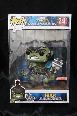 Funko Pop Hulk 10  Inch  241 Thor Ragnarok Target Exclusive Avengers Damage Box