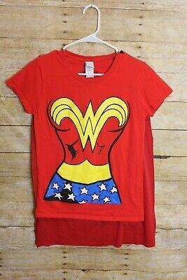 Wonder Woman Rubie's Gildan Costume Shirt Women's Small With Cape (Modest Wonder Woman Costume)