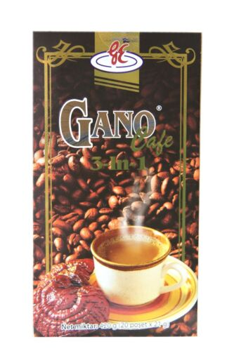 5 Boxes Gano Excel Cafe 3 In 1 Coffee Ganoderma Prem. Free & Expedited Shipping