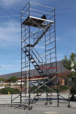 Scaffold Stairway Case Rolling Tower 5 X 7 X 208 Deck High Cbmscaffold