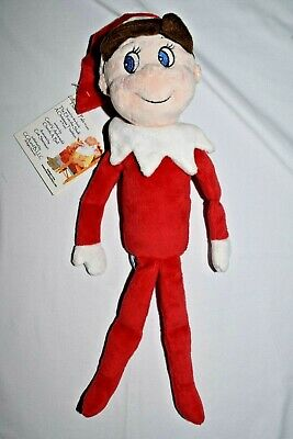 "NOS NWT Elf on the Shelf Plushee Pals Plush Doll Boy Christmas Toy Blue Eyes 15"""