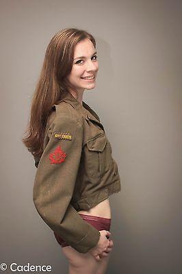 WW2 Post Royal Canadian Army Cadets Uniform Ike Jacket Battledress Blouse. Rare.
