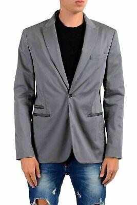 Grau Sport Coat Blazer (John Varvatos Star USA Herren Grau ein Knopf Blazer Sport Coat 40 It 50)