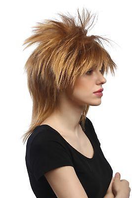 Perücke Damen Herren Halloween Karneval wild Wave Punk 80er Hardrock Blond