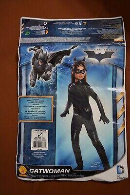 CHILD KIDS GIRLS DELUXE CATWOMAN SPY BATMAN VILLAIN COSTUME SIZE - Girls Deluxe Catwoman Kostüm