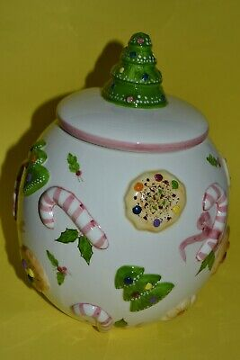 Los Angeles Pottery Rare Vintage Christmas Cookie Jar