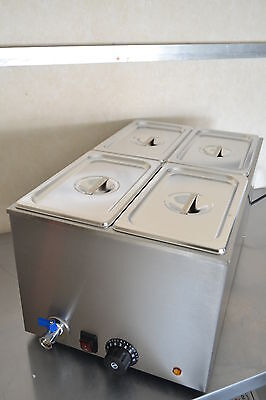 ACE 4 PAN WET WELL BAIN MARIE FOOD WARMER HOLDER including PANS & LIDS model RS2