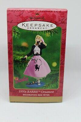2001 HALLMARK Keepsake 1950's BARBIE ORNAMENT CHRISTMAS POODLE SKIRT SOCK HOP