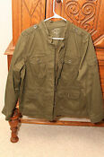 Womens Military Style Green Jacket