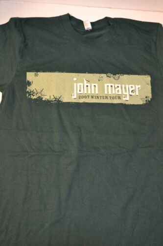 NWoT Rare John Mayer 2007 Winter Tour Green Graphic 2 Sided T Size S