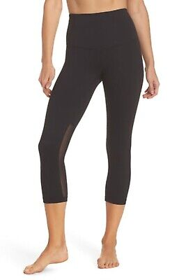 Zella Women's Live In Sultry High Waist Mesh Crop Leggings Size S Small