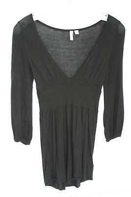 french Black Baby Doll Sweater Size Small, Soft Comfortable Size XS EUC for sale  Shipping to India