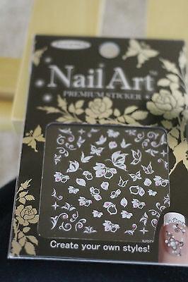 Korea fashion  3D colorful nail sticker  Decals NailArt tips decoration DIY 3set