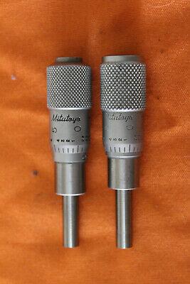 2 Mitutoyo Micrometer Heads 0-25mm Inside Machinist Measuring Tool N00