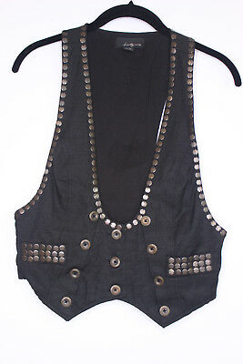 Womens Fitted Button Vest Size Medium Victorian Steampunk Cosplay Everyday EUC (Steampunk Vest Womens)