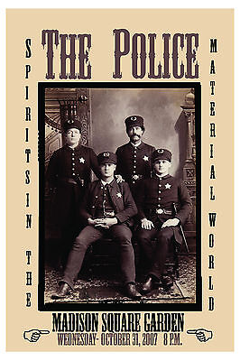 The Police at Madison Square Garden Halloween EVE Concert Poster 2007](Police Halloween Poster)
