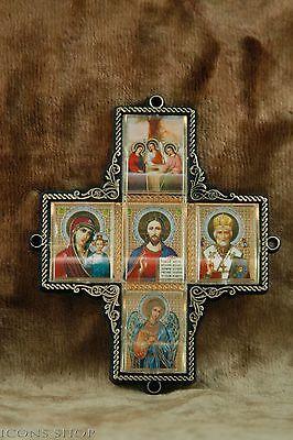 Church Cross Icon St Nicholas Holly Mary Jesus Chris Angel Holy Trinity Троица