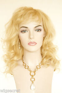 Light-Pale-Blonde-Blonde-Long-Human-Hair-Monofilament-Hand-Tied-Wavy-Strai-Wigs