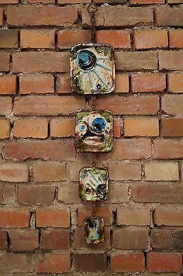 60er Wandkeramik 60s Wall Plate Mid Century German Ceramic Vintage Keramik