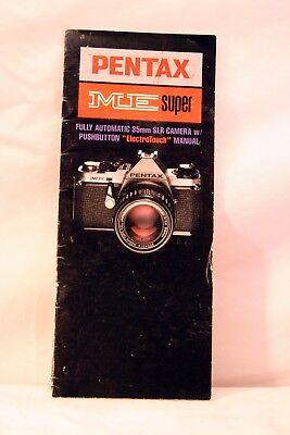 Vintage Pentax ME Super SLR Film Camera Instruction Manual  **Ships Free**1987