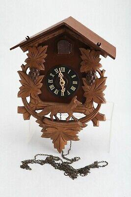Vintage German Cuckoo Clock West Germany Wood 420 Dog Wolf Fox AS IS