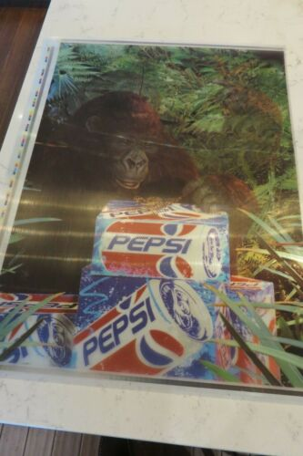1995 Pepsi Congo Gorilla Sign 3D - Soda Machine Insert? Pesi Cola Advertising