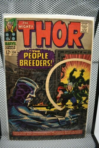 The Mighty Thor #134 Marvel Silver Age Comics 1966 1st App High Evolutionary 4.0