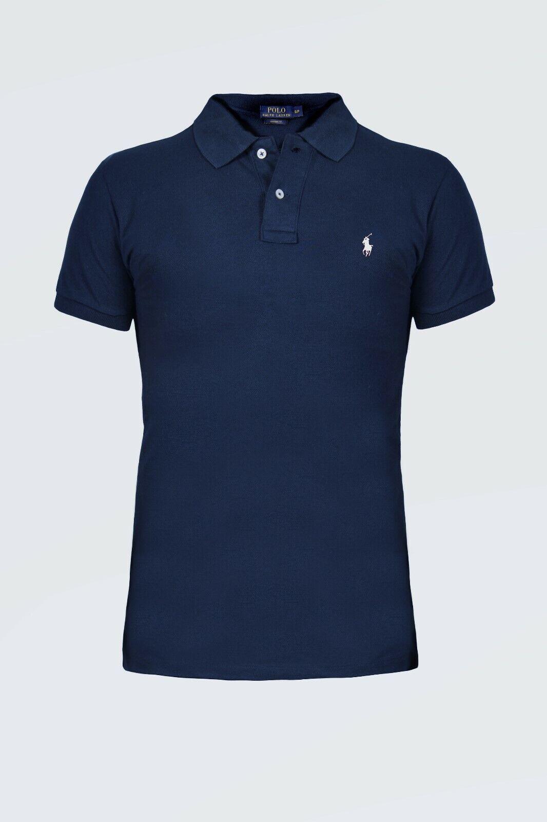 Ralph Lauren, Herren Poloshirt, OVP, Custom Fit, Neu, Navy