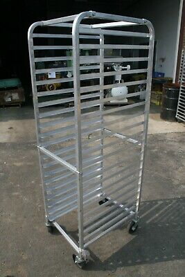 20 Pan Tray Aluminum Bakery Racks Holds Wheeled 18 W X 25 L
