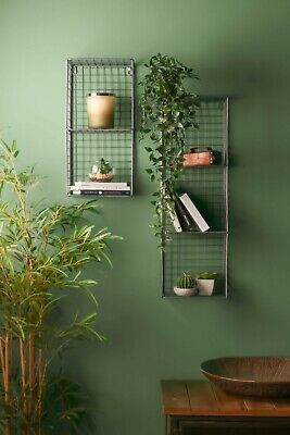 Retro Industrial Style Wire Shelving Wall Shelf Home Storage Metal Vintage Rack