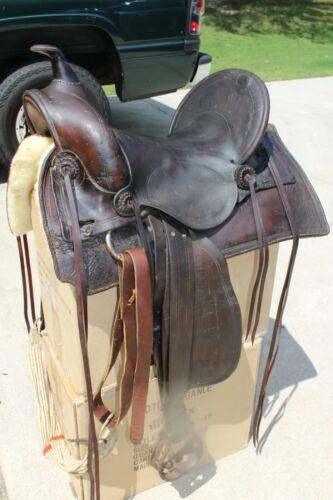Rare Thomas Flynn Western Saddle Circa late 1800