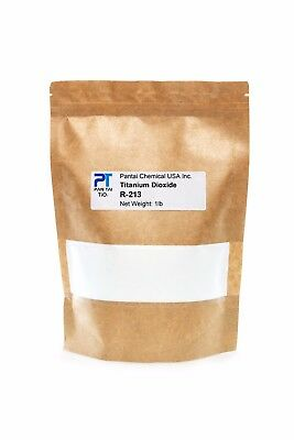 Pure Fine Titanium Dioxide Food-grade Safe Colorant Resealable Bag R-213 16oz