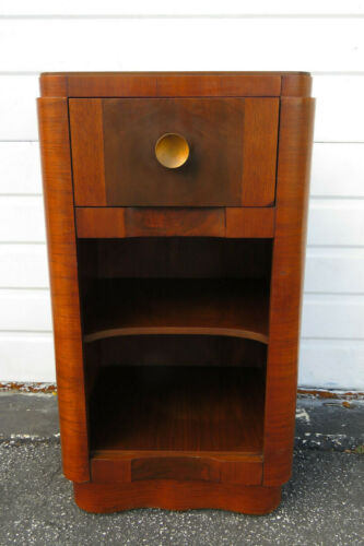 Art Deco Tall Nightstand Side End Table by Cavalier Furniture 1143